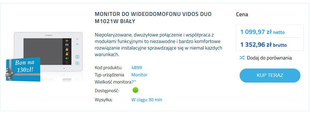 monitory videodomofonow na elektromaniacy.pl
